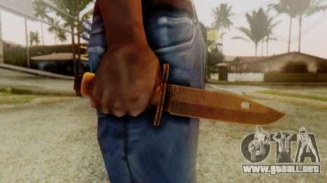 Combat Knife para GTA San Andreas tercera pantalla