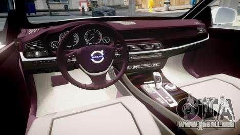Volvo V70 2014 Unmarked Police [ELS] para GTA 4 vista hacia atrás