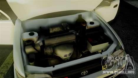 Toyota Corolla para visión interna GTA San Andreas