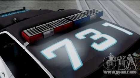 Hunter Citizen Police LS IVF para la visión correcta GTA San Andreas