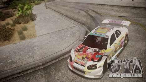 Subaru Impreza 2003 Love Live Muse Team Itasha para vista lateral GTA San Andreas