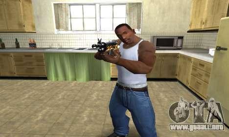 Gold Rifle para GTA San Andreas segunda pantalla