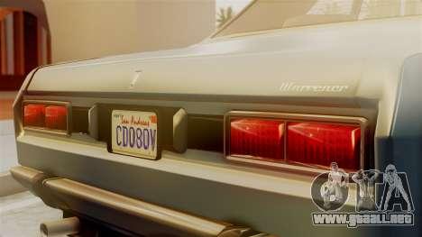 Vulcar Warrener GT 1500 (CT1) para la visión correcta GTA San Andreas