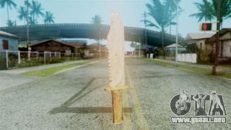 Red Dead Redemption Knife Diego Skin para GTA San Andreas segunda pantalla