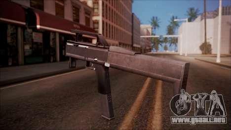 FMG-9 from Battlefield Hardline para GTA San Andreas segunda pantalla