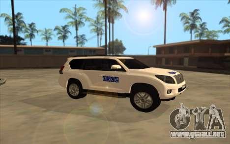 Toyota Land Cruiser de la OSCE (ОБСЕ) para GTA San Andreas left