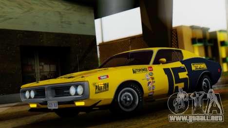Dodge Charger Super Bee 426 Hemi (WS23) 1971 IVF para vista inferior GTA San Andreas