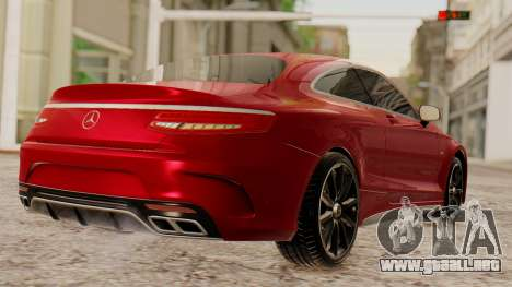 Mercedes-Benz S63 Coupe para GTA San Andreas left