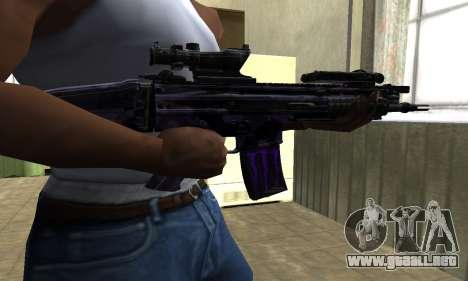 Blue Scan M4 para GTA San Andreas segunda pantalla