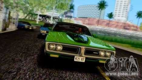 Dodge Charger Super Bee 426 Hemi (WS23) 1971 PJ para la vista superior GTA San Andreas