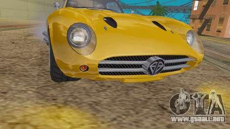 GTA 5 Benefactor Stirling IVF para GTA San Andreas vista hacia atrás