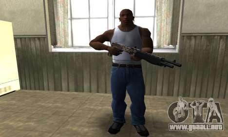Brown Combat Shotgun para GTA San Andreas tercera pantalla