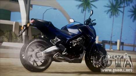 Honda CB650F Azul para GTA San Andreas left