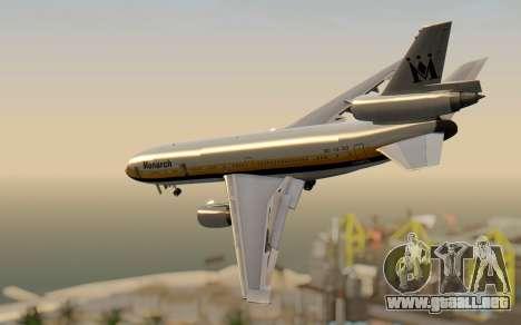 DC-10-30 Monarch Airlines para GTA San Andreas left