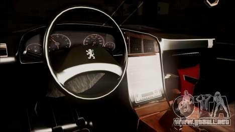 Peugeot Pars The Best Full Sport v1 para la visión correcta GTA San Andreas