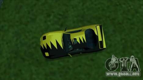 ZR-350 Double Lightning para la vista superior GTA San Andreas