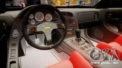 Mazda RX-7 RocketBunny [EPM] para GTA 4 vista hacia atrás
