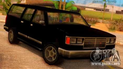 FBI 4-door Yosemite para GTA San Andreas vista hacia atrás