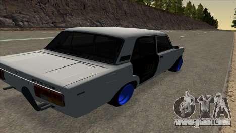 VAZ 2105 AC v1.0 para GTA San Andreas vista posterior izquierda