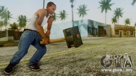 Bogeyman Hammer from Silent Hill Downpour v1 para GTA San Andreas tercera pantalla
