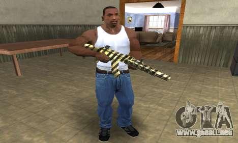 Gold Lines AK-47 para GTA San Andreas tercera pantalla