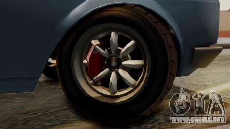 Vulcar Warrener GT 1500 (CT1) para GTA San Andreas vista posterior izquierda