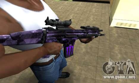 Blue Scan M4 para GTA San Andreas