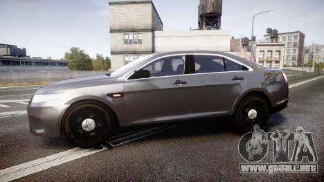 Ford Taurus 2010 Unmarked Police [ELS] para GTA 4 left