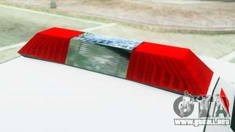 Premier Ambulance para GTA San Andreas vista hacia atrás