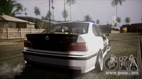 BMW M3 E36 Police para GTA San Andreas left
