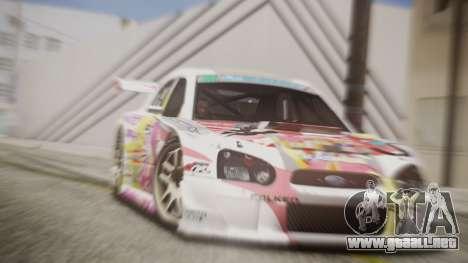 Subaru Impreza 2003 Love Live Muse Team Itasha para la visión correcta GTA San Andreas