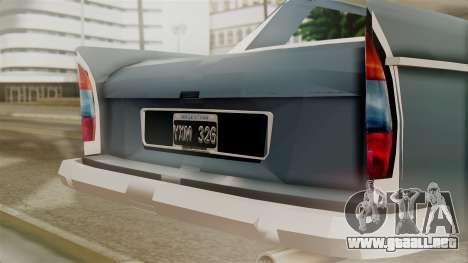 Peugeot 404 para GTA San Andreas vista hacia atrás