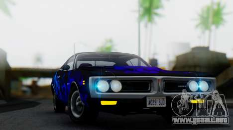 Dodge Charger Super Bee 426 Hemi (WS23) 1971 IVF para la vista superior GTA San Andreas