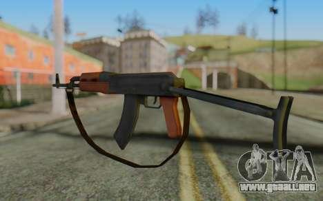 AK-47S with Strap para GTA San Andreas segunda pantalla