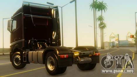 Mercedes-Benz Actros MP4 Stream Space Black para GTA San Andreas left