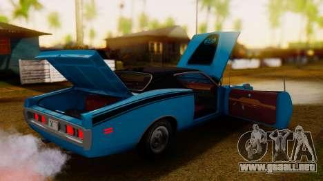 Dodge Charger Super Bee 426 Hemi (WS23) 1971 IVF para visión interna GTA San Andreas