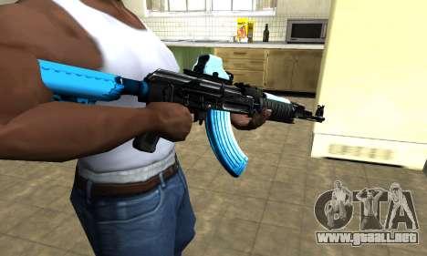 Blue Scan AK-47 para GTA San Andreas segunda pantalla