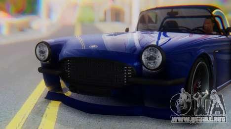 Invetero Coquette BlackFin v2 GTA 5 Plate para vista lateral GTA San Andreas