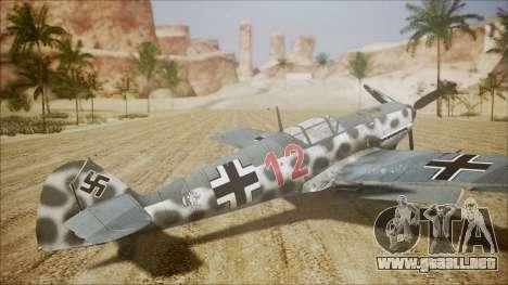 Messerschmitt BF-109 E-4 IJAAF para GTA San Andreas left