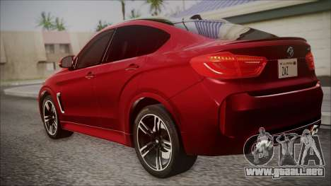 BMW X6M 2015 para GTA San Andreas left