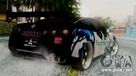 Nissan GT-R R35 Black Rock Shooter Itasha para GTA San Andreas left