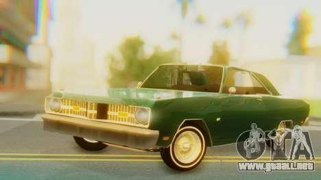 Dodge Dart Coupe para GTA San Andreas vista posterior izquierda