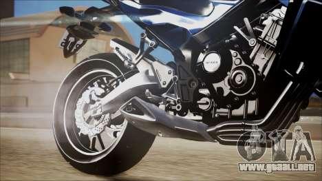Honda CB650F Azul para la visión correcta GTA San Andreas