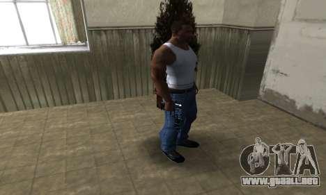 Blue Snow Deagle para GTA San Andreas tercera pantalla
