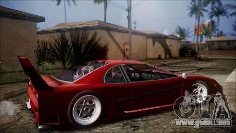 Turismo F40 para GTA San Andreas vista posterior izquierda