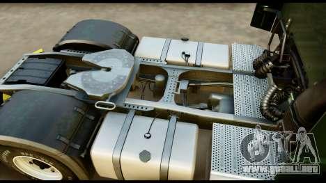 Mercedes-Benz Actros MP4 4x2 Exclusive Interior para GTA San Andreas vista hacia atrás
