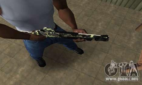 Camo Escopeta para GTA San Andreas segunda pantalla