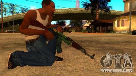 AK-47 Serpiente de Fuego para GTA San Andreas segunda pantalla