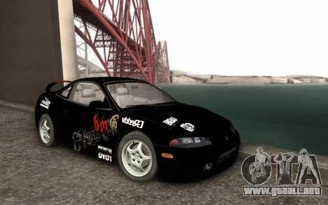 Mitsubishi Eclipse GSX NFS Prostreet para GTA San Andreas vista posterior izquierda