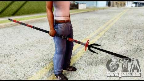 Yukimura Spear para GTA San Andreas segunda pantalla